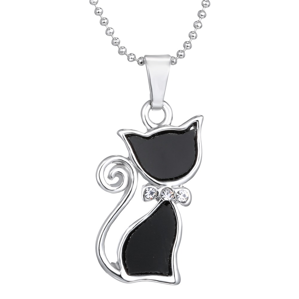 Cute cat pendants necklaces echinops jewelry cute cat pendants necklaces aloadofball Image collections
