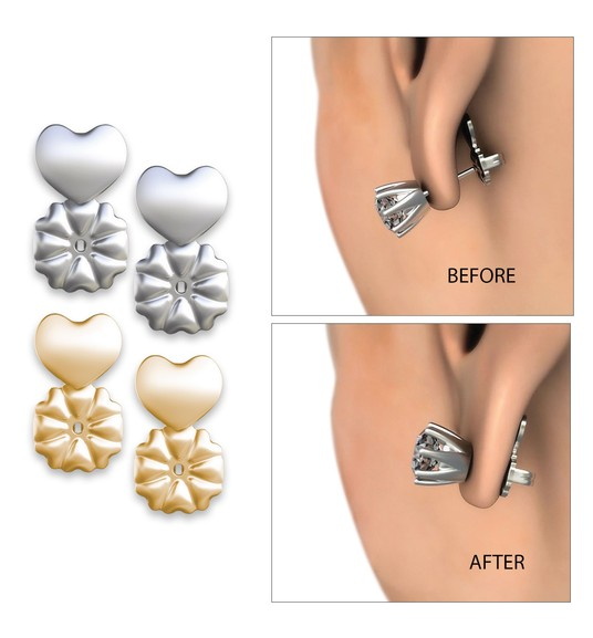 2097179e4 Earring Lifts - Perfect for bad piercings, stretched lobes and heavy ...